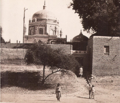 The mausoleum of Pir Shams at Multan, Pakistan